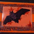 Bat Handmade Greeting Card autum leaves flying bat greeting cards