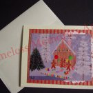 Gingerbread cookies twin cookie Christmas candy House handmade GREETING CARD