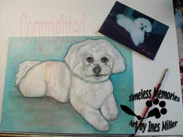 "Pet Painting Commissioned pet Portrait painting 11"" X 14"" on Canvas Textured Paper"