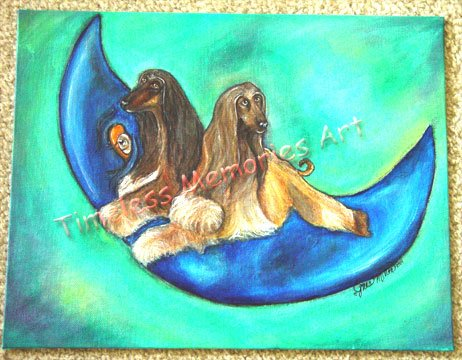 "Pet Painting 16"" X 20"" Acrylics gallery wrapped canvas commissioned animal portraiture"