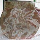 Rustic Iris flowers Fairy ceramic vase Art Pottery vessel handmade sgraffito art pottery