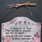 Roses Handmade country cottage pink Roses personalized wood sign shabby chic