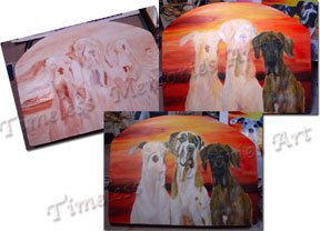 Commissioned Leash holder custom wood leash dog hanger pet painting