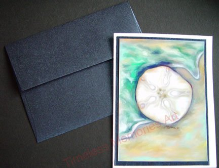 greeting card Sand dollar legend handmade notecard Personalized Holiday christmas  card