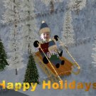 Custom photo your child Christmas winter wonderland photo montage commissioned card digital download