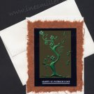 Greeting Card St. Patrick's Day Shamrock tree good luck clovers Handmade Card