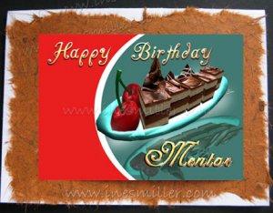 Mentor happy birthday card chocolate cake cherry hand made greeting mentor happy birthday card chocolate cake cherry hand made greeting cards m4hsunfo