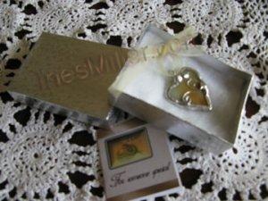 Sweet Honey glass heart pendant fashion jewelry handmade gifts soldered glass pendants