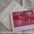 Valentine Greeting Card Handmade card Heart Valentine day I love You Pink squares Virna