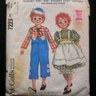 Raggedy Ann & Andy Costume vintage sewing pattern McCall's 7223