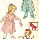 Toddler Robe and Booties Vintage Sewing Pattern Simplicity 3723