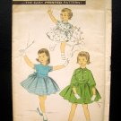 Girl's Fifties Dress Vintage Sewing Pattern Advance 8187 Size 2