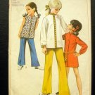 vintage sewing pattern girls dress mod nehru collar Simplicity 8022