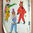 Child's Devil Costume McCalls 2459 Vintage Sewing Pattern Medium