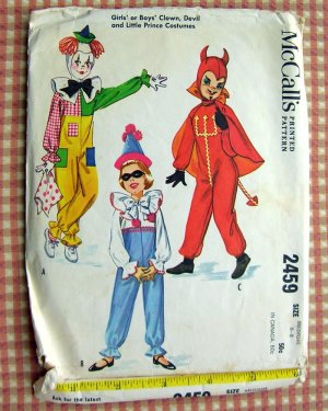 Child's Devil Costume McCalls 2459 Vintage Sewing Pattern Medium