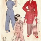 Girls Pajamas and Robe Vintage Sewing Pattern Butterick 5983