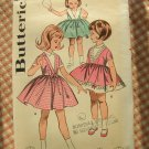 Vintage Sewing Pattern Girls 50s Party Dress Butterick 9741