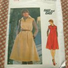 70s dress or jumper vintage sewing pattern Butterick 4948