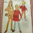 Girls pants, jacket, skirt 60s vintage sewing pattern Simplicity 7185