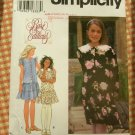 Girl's 90s Party Dress Sewing Pattern Simplicity 9861