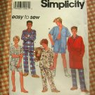 Boys Robe and Pajamas Vintage 90s Sewing Pattern Simplicity 8794