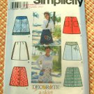 Girl's 90s Skirt Sewing Pattern Simplicity 9652