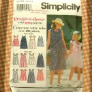 Girl's 90s Sundress Sewing Pattern Simplicity 8945