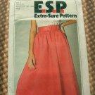 Mock Wrap Skirt Vintage Sewing Pattern Simplicity 9027