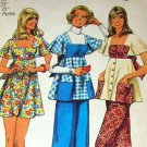 Dress Top  Pants Simplicity 5691 Vintage 70s Sewing Pattern