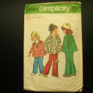 Childs Smock Top and Pants 70s vintage sewing pattern Simplicity 6583