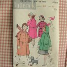 50s Vintage Sewing Pattern Girls Hooded Coat or Jacket Butterick 8289