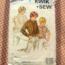 Boys Classic Shirt KwikSew 1191 Vintage Sewing Pattern