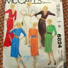 Maxi Dress 70s Vintage Sewing Pattern McCall's 6824