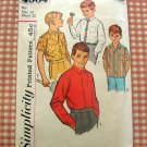 Boys Classic Shirt vintage sewing pattern Simplicity 4964