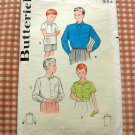 Boys Shirt vintage sewing pattern Butterick 5839