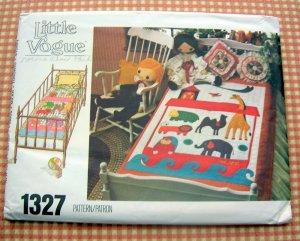 Noah's Ark Quilt vintage 70s sewing pattern Vogue 1327