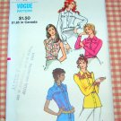 Misses Blouses Vintage Sewing Pattern Vogue 8206