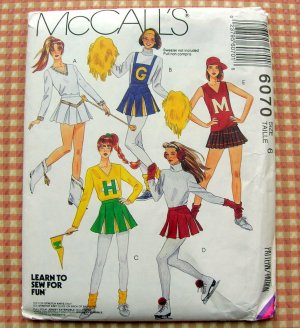 Cheerleading Costume Sewing Pattern McCall's 6070