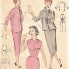 Vintage Wiggle Dress and Jacket Sewing Pattern Butterick 7245