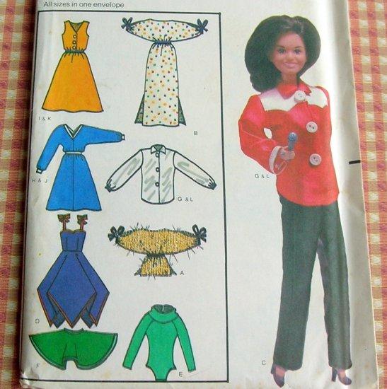 Marie Osmond Doll Wardrobe Butterick 6664 Vintage Sewing Pattern