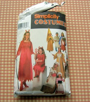 Dress-up Costumes Simplicity 9724 Sewing Pattern Girls Size Small