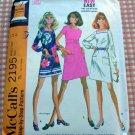 Sixties Mini Dress Vintage Sewing Pattern McCall's 2195