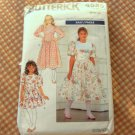 Girls Party Dress Sewing Pattern Size 7 Butterick 4583