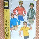 Boys Shirt McCall's 4347 Vintage Sewing Pattern