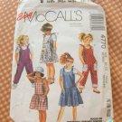 McCalls 4770 Girls Jumpsuit, Romper or Sundress Vintage Sewing Pattern