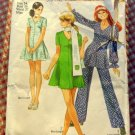 Mini Dress Tunic and Pants Simplicity 8881 Vintage Pattern