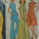 70s Knit Maxi Dress Vintage Sewing Pattern McCall's 3160