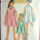 Girl's Tent  Dress Vintage Sewing Pattern Simplicity 7038