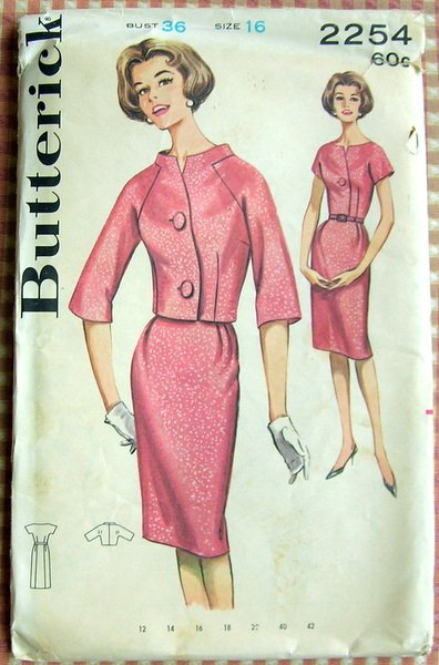 Sheath Dress Vintage Sewing Pattern Butterick 2254