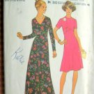 Misses Maxi Dress Vintage 70s Sewing Pattern Simplicity 6935